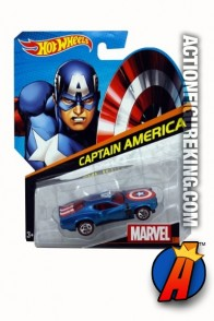 Captain America die-cast vehicle from Hot Wheels.