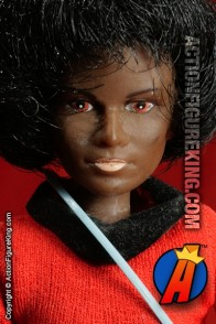 Fully articualted Mego 8 inch Star Trek Lt. Uhura action figure.