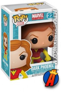 A packaged sample of this Funko Pop! Marvel Dark Phoenix vinyl figure.