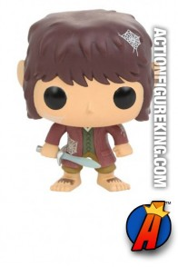 Funko Pop! Movies Hot Topics Exclusive Spiderwebs Bilbo Baggins figure.