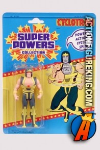 A packaged sample of this Kenner Super Powers Cyclotron figure.