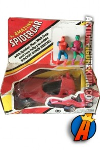 Mego Comic Action Super Heroes 3.75-inch scale Spider-Man Spidercar.