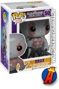 A packaged sample of this Funko Pop! Marvel Drax vinyl bobblehead figure.