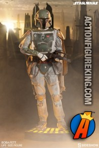 Star Wars Life-Size Boba-Fett with electronic features.