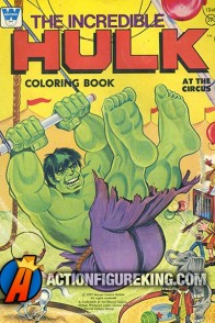 1977 Incredible Hulk coloring book from Whitman.