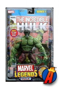 Marvel Legends Series 1 Incredible Hulk action figure from Toybiz.
