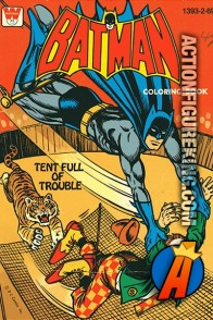 Batman Tent Full of Trouble coloring book from Whitman.