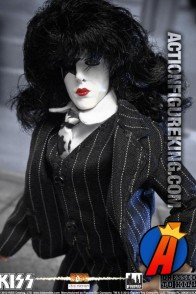 Fully articulated KISS Series 5 Dressed to Kill Starchild action figure with removable fabric outfit.