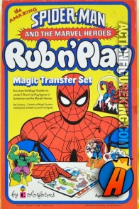 Spider-Man Rub And Play set from Colorforms circa 1978.