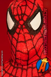 Mego-style Famous Cover Series 8 inch Spider-Man action figure with authentic fabric costume.