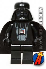 LEGO STAR WARS DARTH VADER minifigure with red lightsaber.