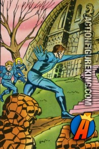 Eerie artwork from this vintage Whitman Fantastic Four jigsaw puzzle.