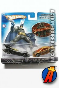 Batman vs. the Scarecrow die-cast vehicles from Hot Wheels.