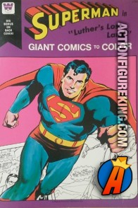 Superman Giant Comics to Color - Luthor's Lost Land from Whitman.
