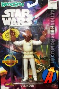 STAR WARS Bend-Ems ADMIRAL ACKBAR Bendable Figure.