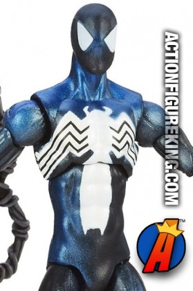 Fully articulated Marvel Universe 3.75-inch Black Costume Spider-Man figure.