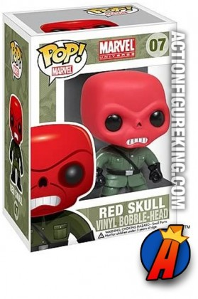 A packaged sample of this Funko Pop! Marvel Red Skull vinyl figure number 7