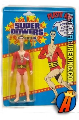 Vintage 4.5-inch Kenner Super Powers Plastic Man action figure.