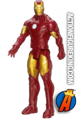 12-inch scale Titan Hero Series Iron Man figure from Marvel and Hasbro.