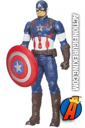 12-inch scale Titan Hero Tech electronic Captain America figure.