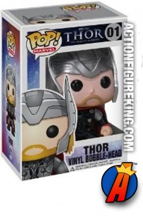 A packaged sample of this Funko Pop! Marvel Thor movie vinyl figure.