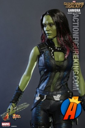 12-inch tall Gamora by Hot Toys from their Guardians of the Galaxy line of action figures.