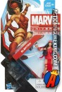 A packaged sample of this Marvel Universe 3.75-inch Elektra action figure.