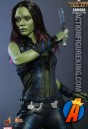 This Guardians of the Galaxy Gamora action figure is fully possible with a highly detailed cloth uniform.