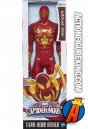 A packaged sample of this sixth-scale Titan Hero Series Iron Spider figure.