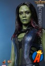 This GOTG Gamora figure is based on actress Zoe Saldana as she appears in the live-action film.