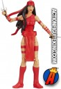 Fully aritculated Marvel Universe 3.75-inch Elektra action figure.