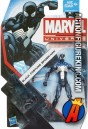 A packaged sample of this Marvel Universe 3.75-inch Black Suited Spider-Man action figure from Hasbro.